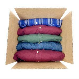 Men's 4XL 5 piece mystery box button-down shirts